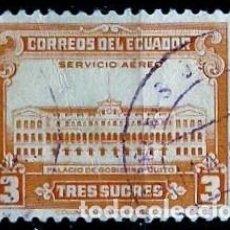 Sellos: ECUADOR SCOTT: C128-(1944) (CORREO AEREO) (PALACIO GUBERNAMENTAL DE QUITO) USADO. Lote 189569403