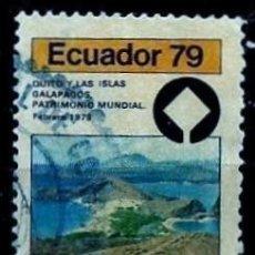 Sellos: ECUADOR SCOTT: C652-(1979) (CORREO AEREO) (QUITO Y LAS ISLAS GALÁPAGOS. PMH) USADO. Lote 189570641