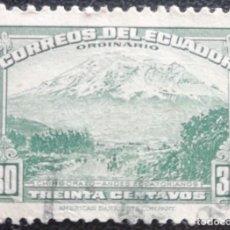 Sellos: 1942. ECUADOR. 405. CHIMBORAZO, CUMBRE PERTENECIENTE A LA CADENA MONTAÑOSA DE LOS ANDES. USADO.. Lote 190378883