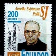 Sellos: ECUADOR SCOTT: 1339-(1994) (PADRE ESPINOSA POLIT, JESUITA) USADO. Lote 192370301