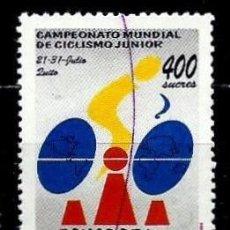 Sellos: ECUADOR SCOTT: 1351-(1994) (CAMPEONATO MUNDIAL DE CICLISMO JUNIOR) USADO. Lote 192370342