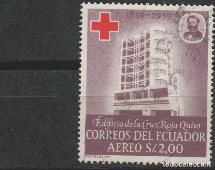LOTE L-SELLO ECUADOR CRUZ ROJA (Sellos - Extranjero - América - Ecuador)