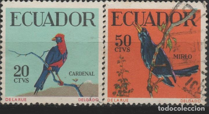 LOTE L-SELLO ECUADOR AVES (Sellos - Extranjero - América - Ecuador)