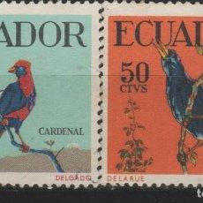 Sellos: LOTE L-SELLO ECUADOR AVES. Lote 195644842