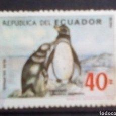 Sellos: ECUADOR PINGÜINOS SELLO USADO. Lote 196876183