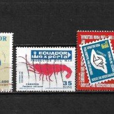 Selos: ECUADOR LOTE SELLOS USADOS - 20/19. Lote 199640863