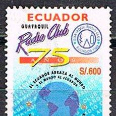 Sellos: ECUADOR Nº 2468, 75º ANIVERSARIO DEL CLUB DE RADIO DE GUAYAQUIL, USADO. Lote 200370410