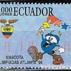 Sellos: ECUADOR Nº 2398, JUEGOS OLIMPICOS DE ATLANTA 1.996, USADO. Lote 200370882