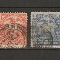 Sellos: ECUADOR. 1887. YVERT Nº 15/18. Lote 200727360