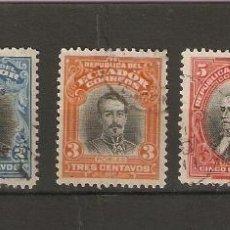 Sellos: ECUADOR 1911-15. YVERT Nº 179,180,181,182,183.. Lote 200727511