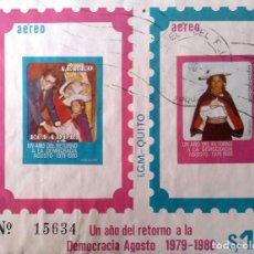 Sellos: ECUADOR. HB 50 RETORNO A LA DEMOCRACIA, SIN DENTAR. 1980. SELLOS NUEVOS Y NUMERACIÓN YVERT.. Lote 202445890