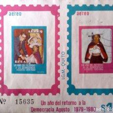 Sellos: ECUADOR. HB 50 RETORNO A LA DEMOCRACIA, SIN DENTAR. 1980. SELLOS NUEVOS Y NUMERACIÓN YVERT.. Lote 202445946