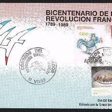 Sellos: SOBRE PRIMER DIA 1989- ECUADOR. Lote 202881933