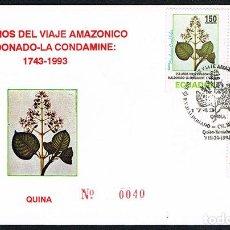 Sellos: SOBRE PRIMER DIA 1993- ECUADOR. Lote 202887911