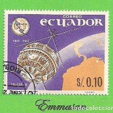 Sellos: ECUADOR - MICHEL 1190 - YVERT 752 - CENT. DE LAS TELECOMUNICACIONES. (1966). NUEVO MATASELLADO.. Lote 206242083