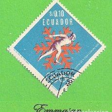 Sellos: ECUADOR - MICHEL 1274 - YVERT 769 - JUEGOS OLÍMPICOS DE INVIERNO. (1966). NUEVO MATASELLADO.. Lote 206244043