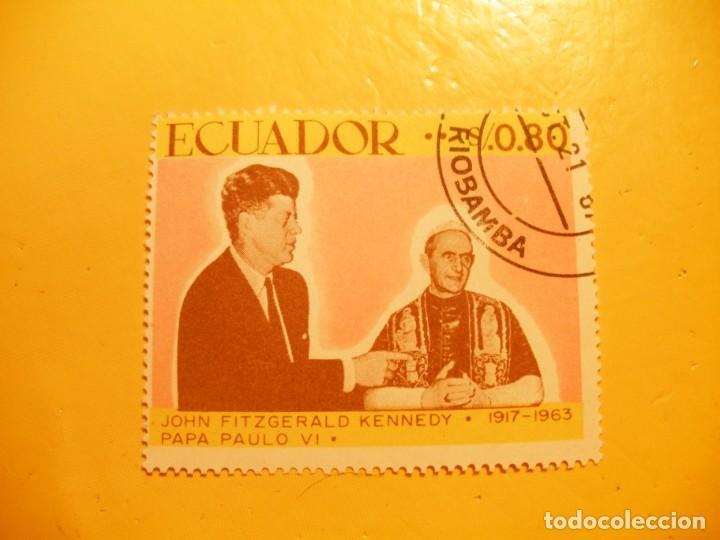 ECUADOR - JOHN F. KENNEDY Y EL PAPA PABLO VI. (Sellos - Extranjero - América - Ecuador)