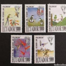 Sellos: ECUADOR COLIBRÍS AÑO 1995 MNH (FOTOGRAFÍA REAL). Lote 207287767