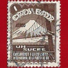Sellos: ECUADOR. 1939. EXPOSICION INTERNACIONAL GOLDEN GATE. Lote 207910157