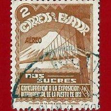 Sellos: ECUADOR. 1939. EXPOSICION INTERNACIONAL GOLDEN GATE. Lote 207910213