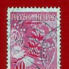 Sellos: ECUADOR. 1954. PRODUCTOS AGRICOLAS. PLATANO. FLORES. Lote 207910610