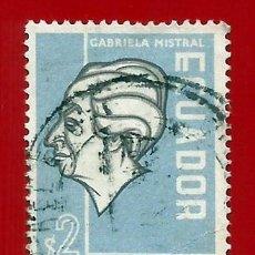 Sellos: ECUADOR. 1957. GABRIELA MISTRAL. Lote 208219227