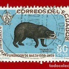 Selos: ECUADOR. 1960. FUNDACION DE BAEZA. Lote 208219641