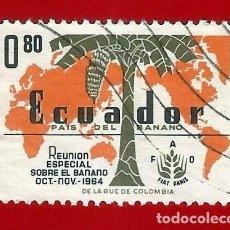 Sellos: ECUADOR. 1964. BANANO. MAPA DEL MUNDO. Lote 208220187