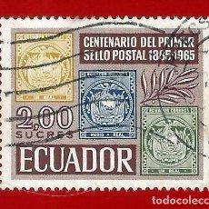 Sellos: ECUADOR. 1965. CENTENARIO PRIMER SELLO POSTAL. Lote 208220508