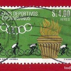 Sellos: ECUADOR. 1965. JUEGOS DEPORTIVOS BOLIVARIANOS. Lote 208221157