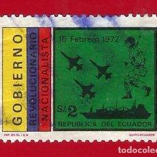 Sellos: ECUADOR. 1972. GOBIERNO REVOLUCIONARIO. FUERZAS ARMADAS. Lote 208991217