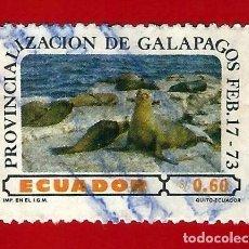 Sellos: ECUADOR. 1973. ISLAS GALAPAGOS. Lote 208991453