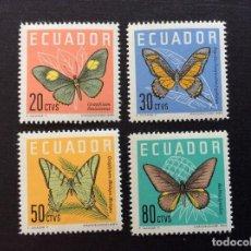 Sellos: ECUADOR Nº YVERT 676/9*** AÑO 1961. MARIPOSAS. Lote 209977310