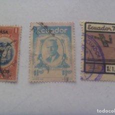 Sellos: LOTE DE 3 SELLOS DE ECUADOR , DOS ANTIGUOS ( UNO CON SOBRE MARCA ). Lote 210229811
