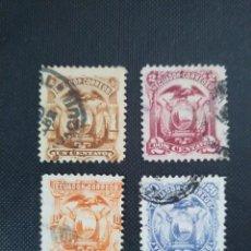 Sellos: ECUADOR 1881 - 1887, ESCUDO NACIONAL. Lote 212107938