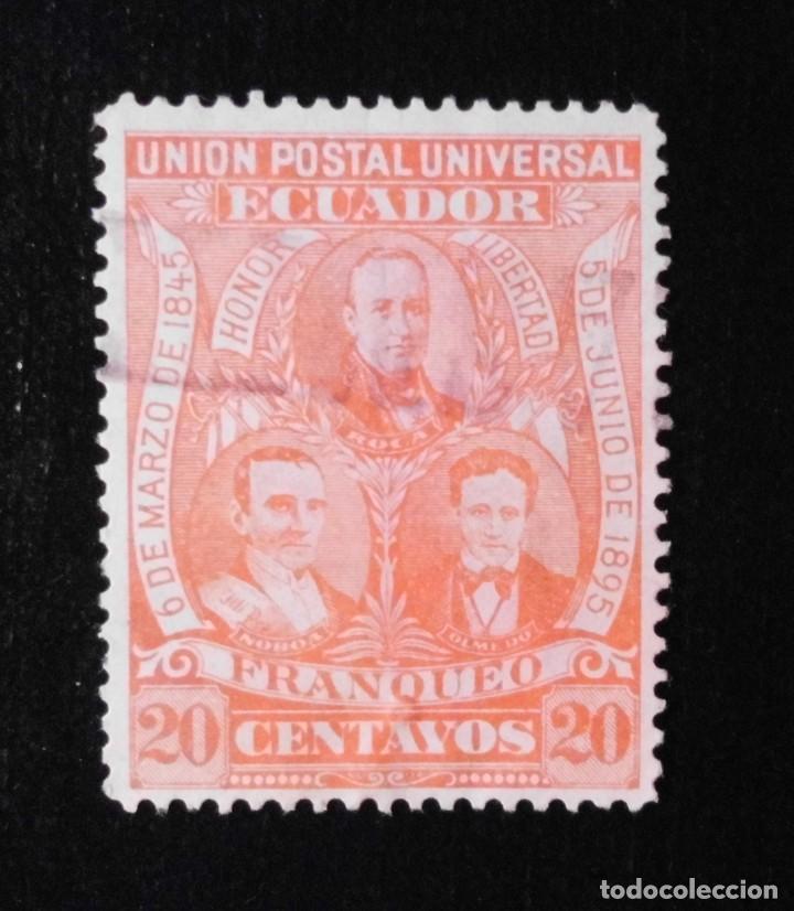 Sellos: SELLOS DE ECUADOR 1896, GOLPES DE ESTADO LIBERALES DEL 6 DE MARZO DE 1845 Y DEL 5 DE JUNIO DE 1895 - Foto 7 - 212131911