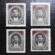 Sellos: COLECCIÓN SELLOS DE ECUADOR 1895, SELLOS POSTALES TIPO 1892 SOBRECARGADOS, FRANQUEO OFICIAL EN ROJO. Lote 212259656