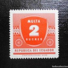 Sellos: ECUADOR 1958, NUMERO , FRANQUEO DEFICIENTE. Lote 212261740