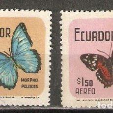 Selos: ECUADOR. AÉREO.1970. Nº 503,504. MARIPOSAS.. Lote 216786827