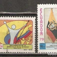Sellos: ECUADOR. AÉREO.1979. Nº 679,680. Lote 216788836