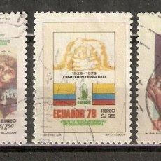 Sellos: ECUADOR. AÉREO.1978. Nº 650/52. Lote 216790142