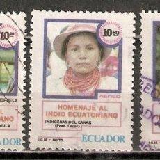 Sellos: ECUADOR. AÉREO.1980. Nº 702B,702C,702D. Lote 216790282