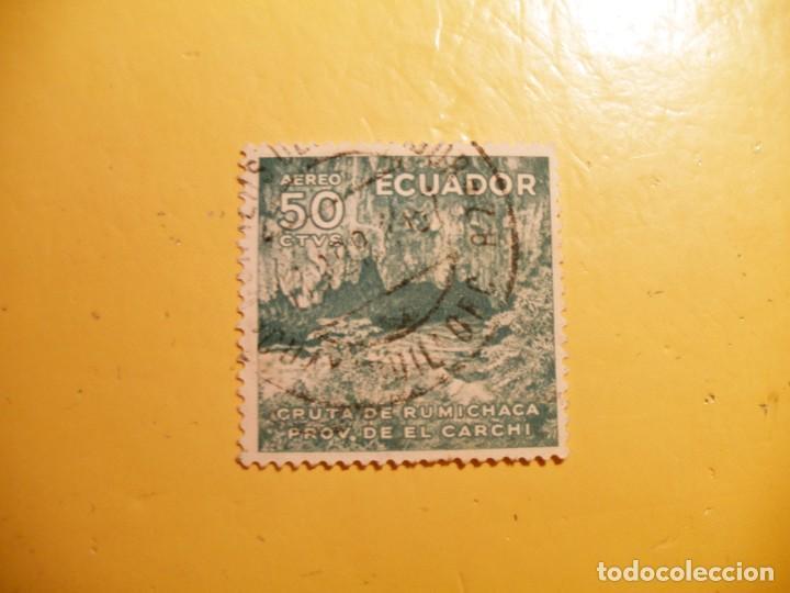 ECUADOR - EL CARCHI - CUEVAS - GRUTA DE RUMICHACA. (Sellos - Extranjero - América - Ecuador)