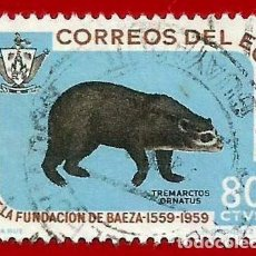 Selos: ECUADOR. 1960. FUNDACION DE BAEZA. Lote 221642400