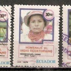 Sellos: ECUADOR. AÉREO.1980. Nº 702B,702C,702D. Lote 221672918