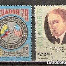 Sellos: ECUADOR. AÉREO.1979. Nº 677,678. Lote 221672983