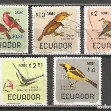 Sellos: ECUADOR. AÉREO.1966. AVES.. Lote 221673072