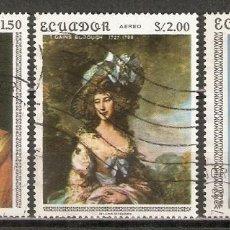 Sellos: ECUADOR. AÉREO.1967. Nº 491,492,493. ARTE.PINTURA.. Lote 221673233