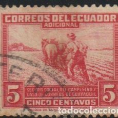 Sellos: ECUADOR 1940 SCOTT RA48 SELLO º AGRICULTOR ARANDO IMPUESTO OBLIGATORIO MICHEL Z47 YVERT B12 STAMPS. Lote 222461361