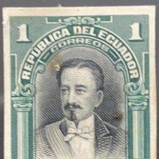 Sellos: O) 1907 ECUADOR, PRUEBA DE DADO, PRESIDENTE 1875 A 1876 ANTONIO BORRERO SCT 173 1S, DERROTADO POR GO. Lote 226141115